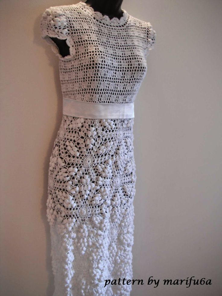 Free Crochet Patterns And Video Tutorials HOW TO CROCHET WEDDING DRESS PATTERN TUTORIAL