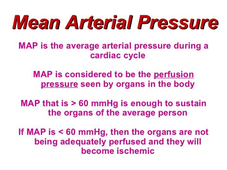 mean arterial pressure map definition and body requirements