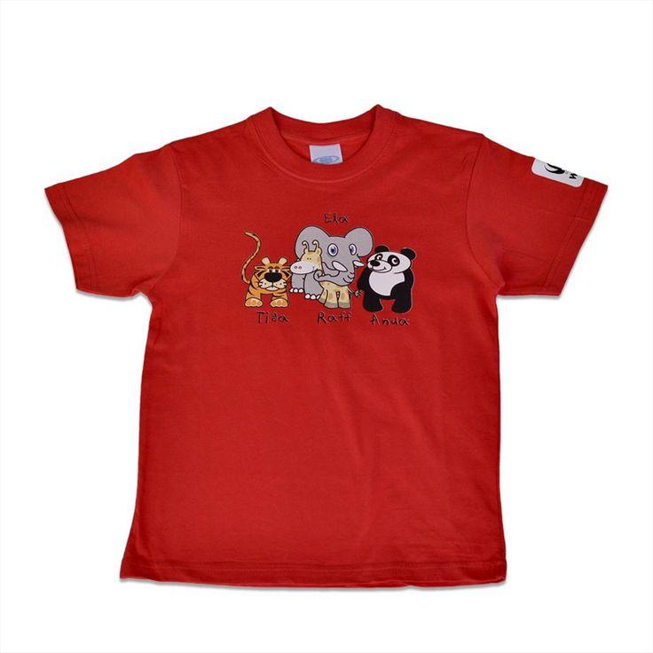 "T-shirt ""Animals""|wwf.gr"