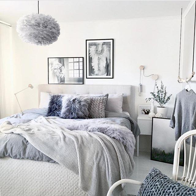 Bedroom In Scandinavian Style Home Interior Simple