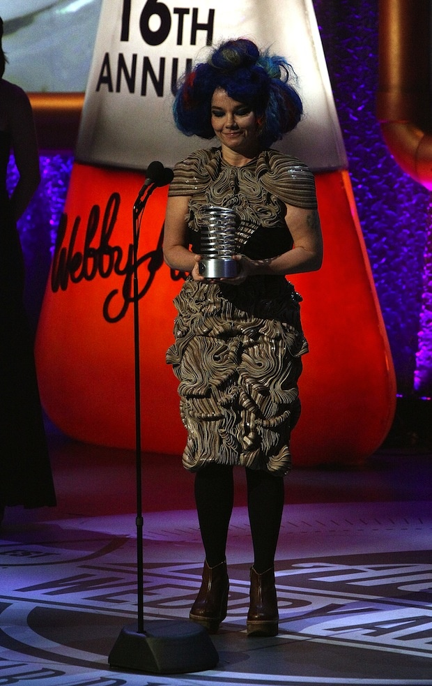 Bjork in the 16th Annual Webby Awards  Wearing Iris Van Herpen's fall 2011 couture collection