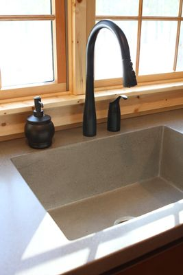 concrete countertop and sink by Artistic Concrete Expressions West Michigan