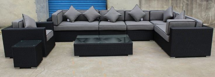 12 x 7 sectional with club chair and center table and side table