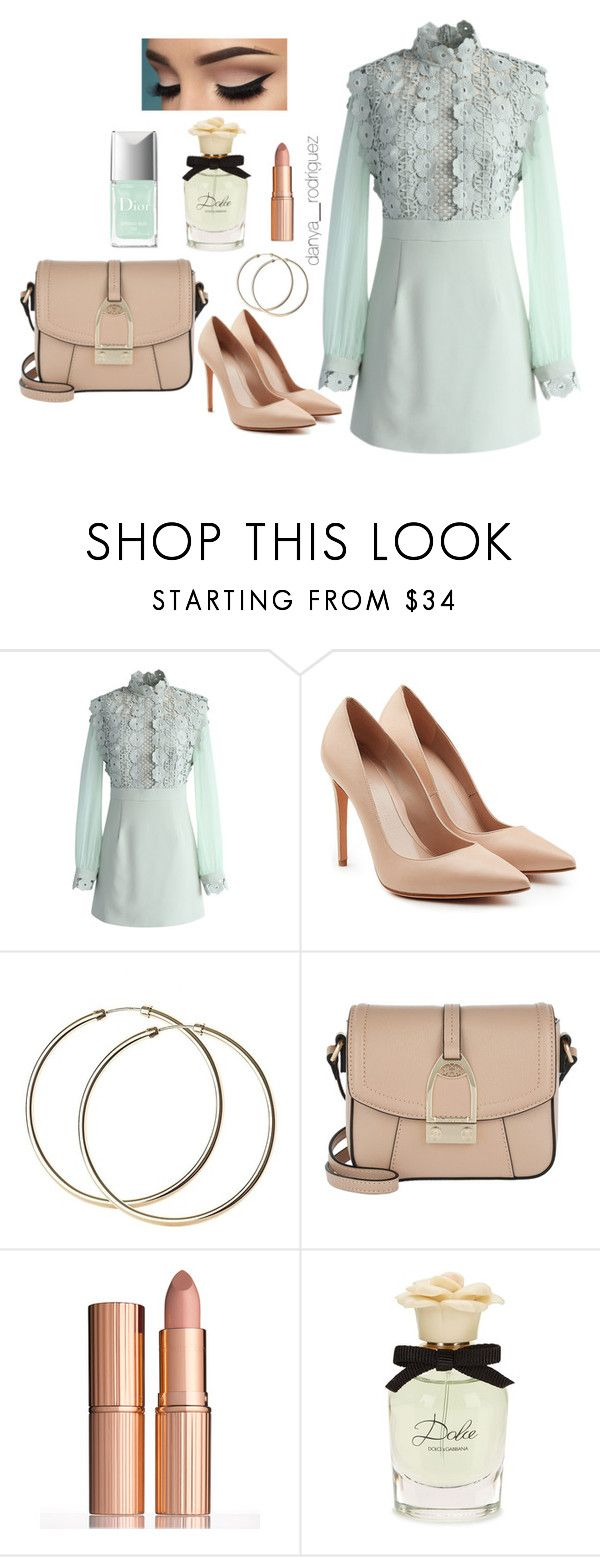 """Sin título #115"" by sousou2578 on Polyvore featuring moda, Chicwish, Alexander McQueen, LA MARTINA, Charlotte Tilbury y Dolce&Gabbana"