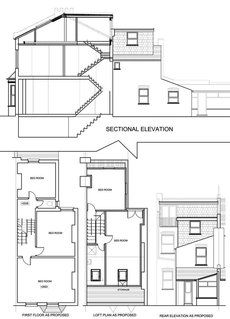 l shaped loft conversion with 2 bed and en suite plans - Google Search