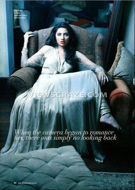 Pakistani Fashion Model Mahira Khan's Photo Shoot for Libas International Magazine