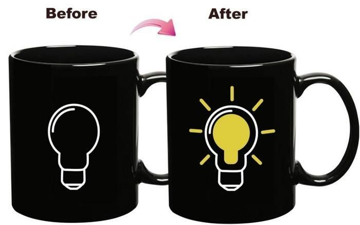 Magic Mug Light Bulb buat kamu yang creative - Lampunya menyala setelah terkena air panas:) Harga hanya Rp 86.000 saja, Stock sangat terbatas! :)