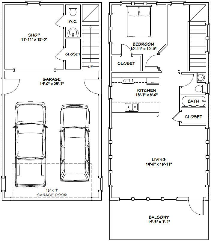 20x40 House -- 1Bedroom, 1.5 Bath With A Shop -- 965 Sq Ft