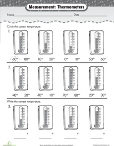 FREE - Measurement Mania: Thermometers Worksheet...you can find so many worksheets here...you can waste a whole day searching :-)