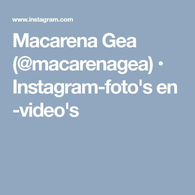 Macarena Gea (@macarenagea) • Instagram-foto's en -video's