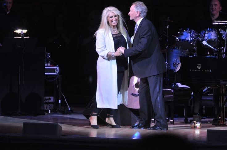 Geraldine Branagan and Phil Coulter share the stage at Carnegie Hall. December 2014.