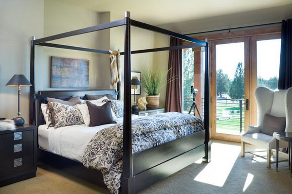 Traditional four poster bed master suite ca pinterest for Bedroom designs with four poster beds