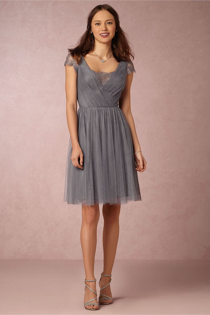 Grey And Pink Bridesmaid Dresses