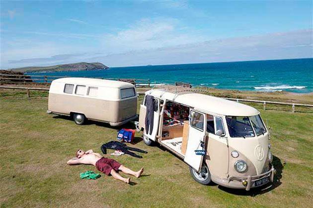 I remember those days!  Volkswagen Bus Inspired Dub Box Camper Trailer