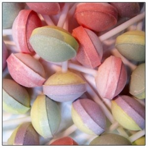 Swizzles Matlow Double Lollies - notice how small these are now?