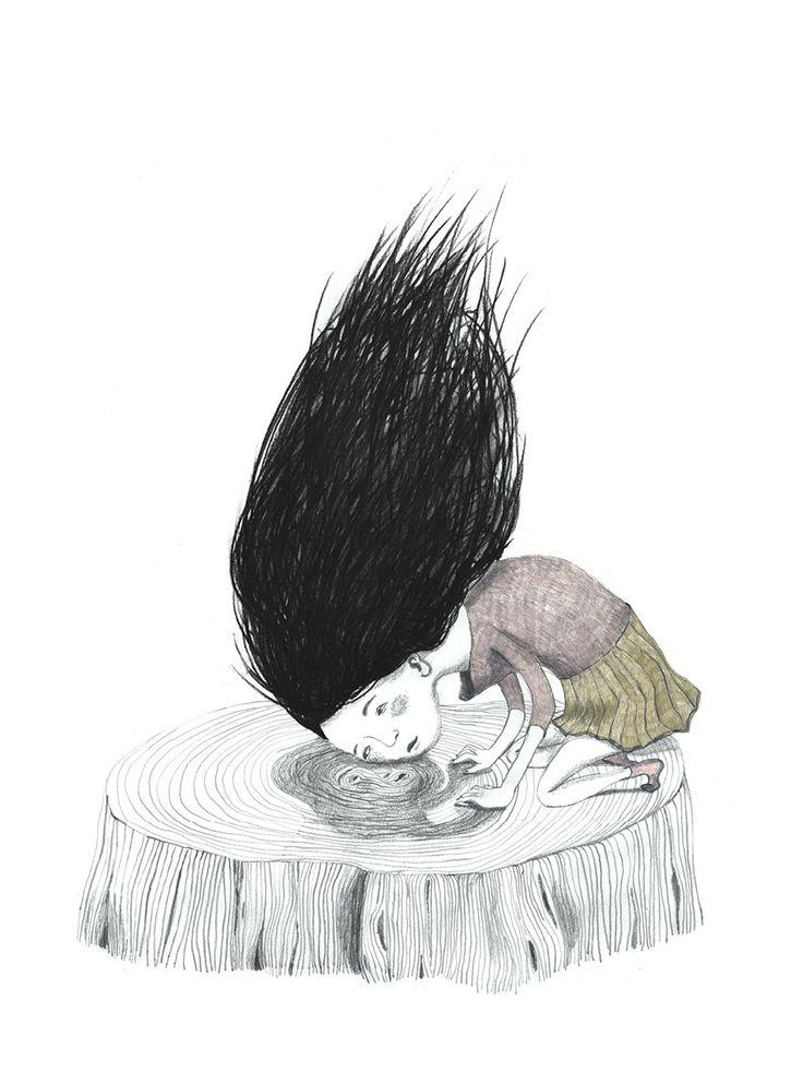 Treestump - illustration