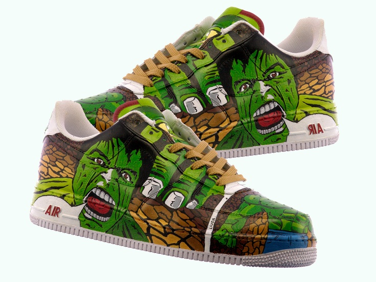 Hulk Hand Painted Shoes - The incredible Hulk Shoes - Comic Shoes. $385.95, via Etsy.