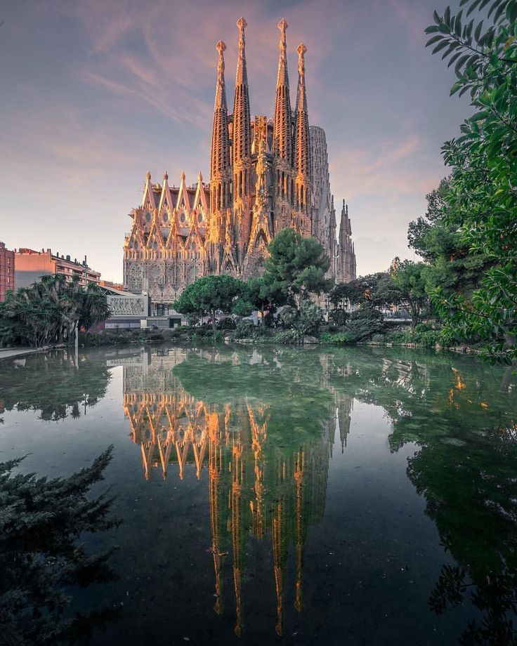 Gothic architecture of La Sagrada Familia ⛪ Barcelona, Spain #gothicarchitecture