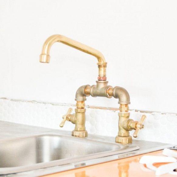 diy brass bridge faucet make your own