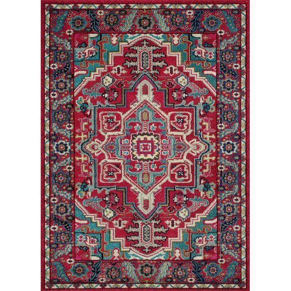Feldmann Oriental Cherry Turquoise Area Rug Rugs Area Rugs Chic Rug Red and turquoise area rugs