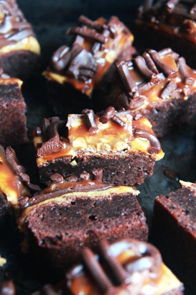 Crumbs and Cookies: snickers brownies.