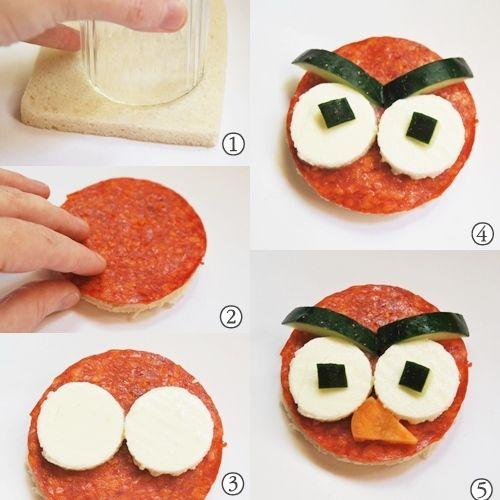Recetas ricas para niños¡¡¡ Sandwich Angry Birds