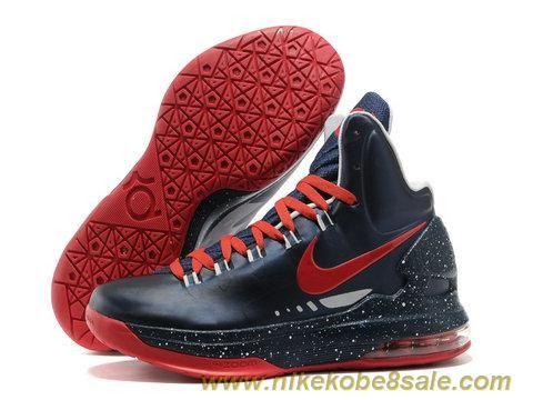 Discounts Nike Zoom KD V Dark Blue Red