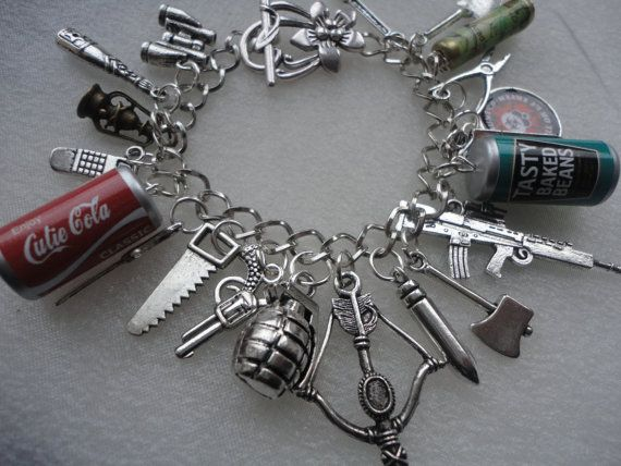Zombie Survival Bracelet, ZOMBIE APOCALYPSE Charm Bracelet - Horror Bracelet on Etsy, 228:02kr