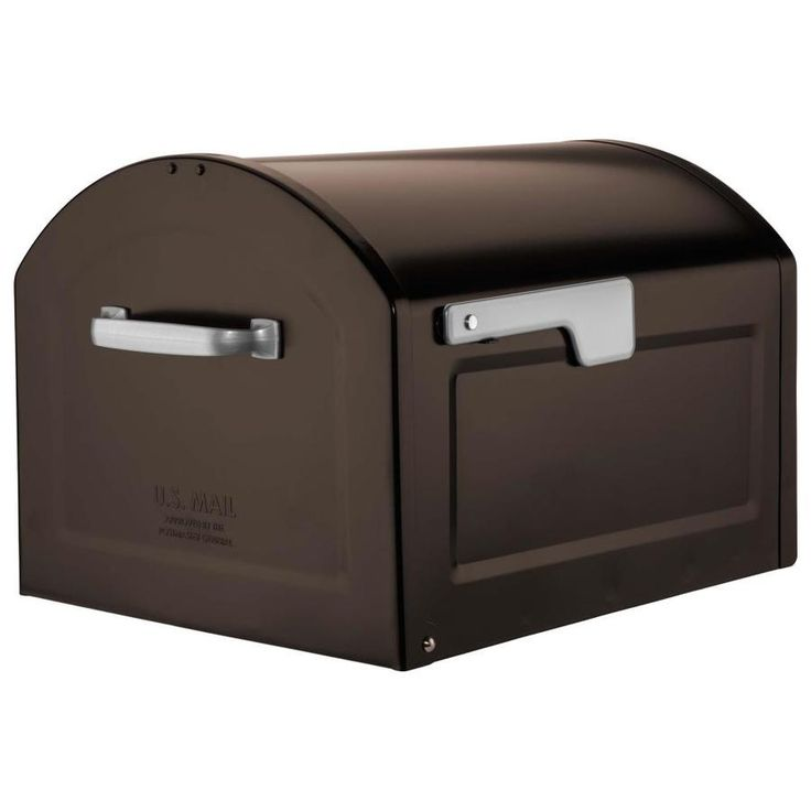 Architectural Mailboxes Centennial 14.2-in W x 11.9-in H Metal Rubbed Bronze Post Mount Mailbox