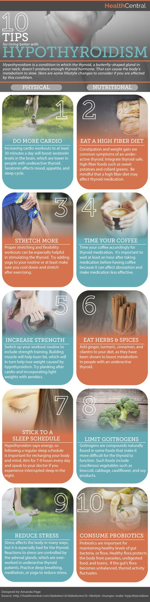 10 Tips for Living Better With #Hypothyroidism (INFOGRAPHIC)