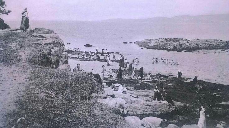 Playa Carreiro das Mulleres (hoy ENM), año 1915