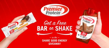Free Sample Premier Protein Bar or Shake - FreebieFresh