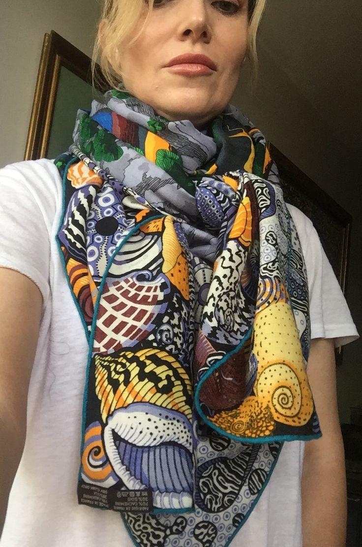 276 Best Scarves Images On Pinterest Silk Scarves Head