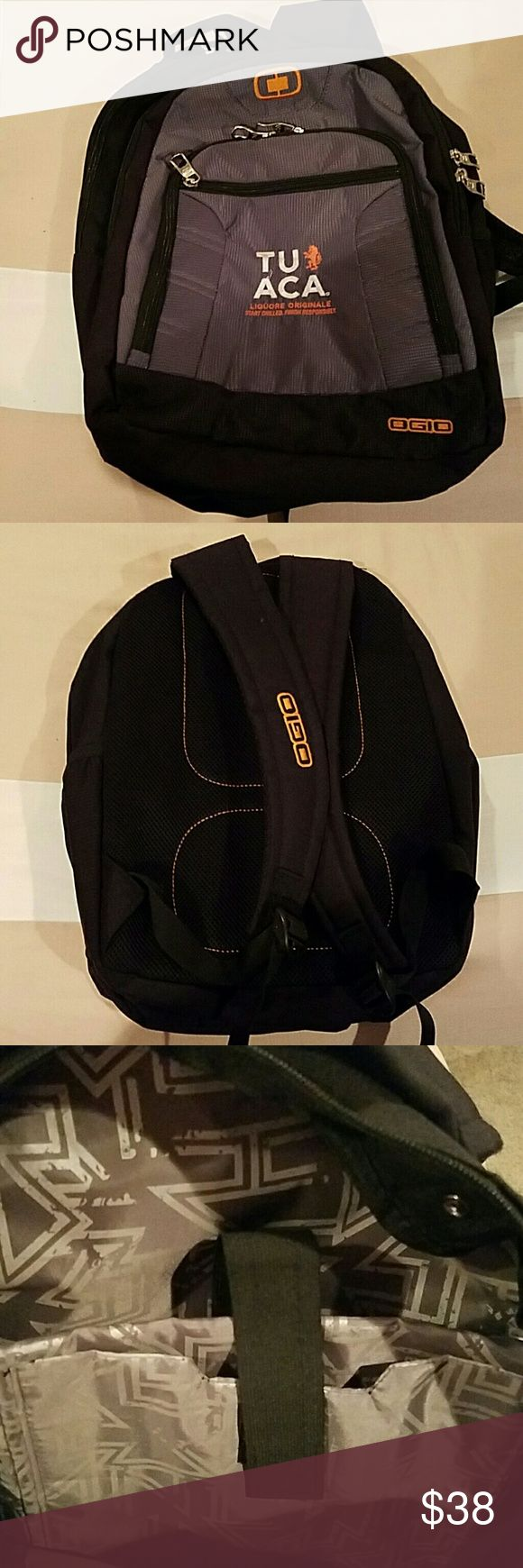 Ogio Backpack Excellent condition backpack.  4 zipper compartments  with a laptop holder inside the largest pocket. There is also one pocket that can hold your pens/pencils (last pic). And  a water bottle holder! This can keep everything organized. Perfect for a college student! Absolutely No Holes No Tears No Stains!!! Ogio Bags Backpacks