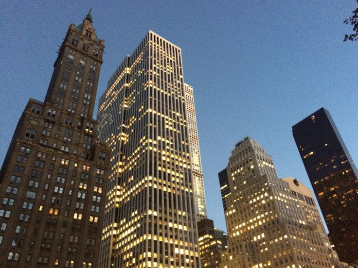 A view of the buildings on 59th Street at dusk, taken from Central Park New York © Sarah Murphy