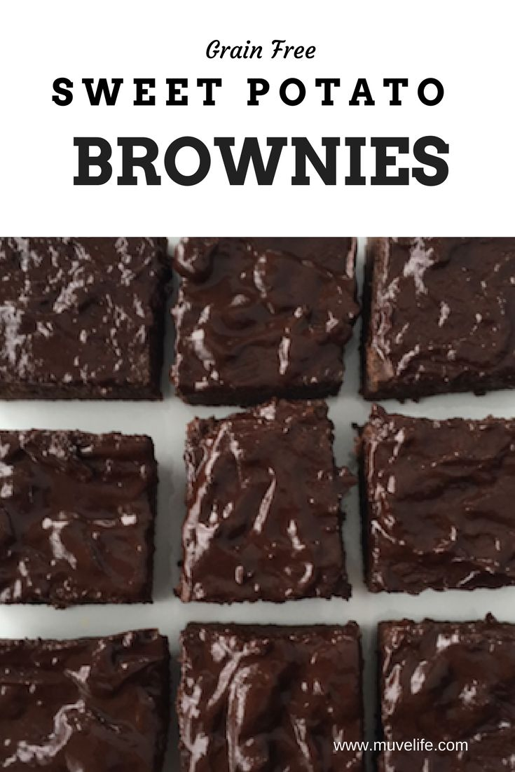 Melt in your mouth Grain-Free, Refine Sugar-Free, Gluten-Free Sweet Potato Brownies. Full of flavour and healthy too!