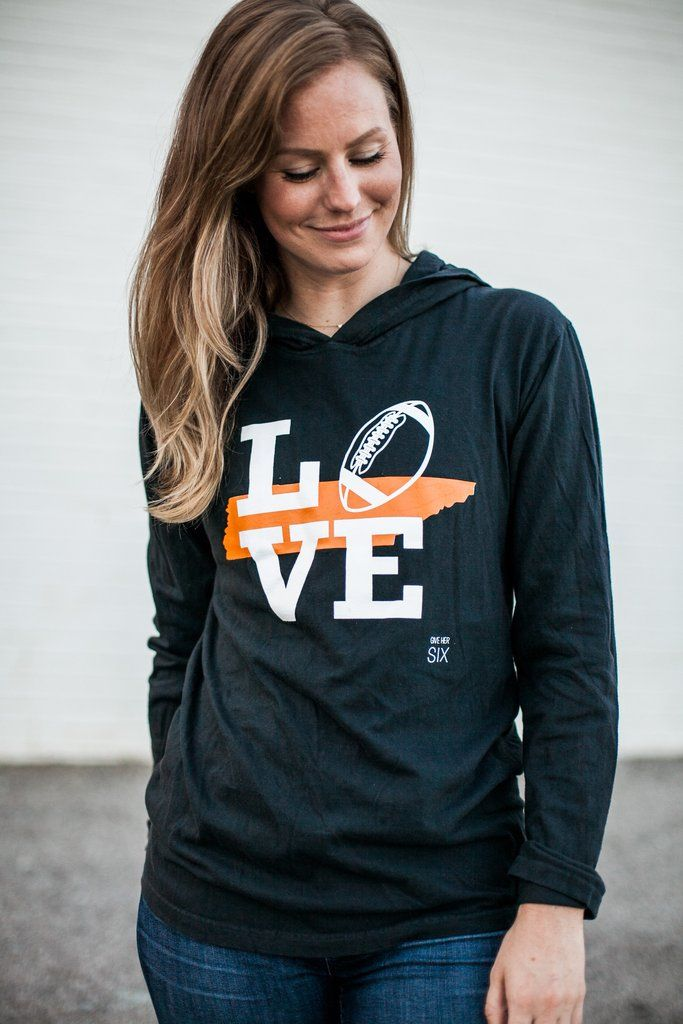Love Tennessee Football Lightweight Hoodie