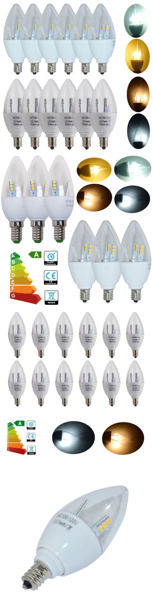 Lamps And Lighting: 24 1Pack E12 5W Dimmable Non-Dimmable Led Candle Bulb Spotlight Candelabra Lamp -> BUY IT NOW ONLY: $46.99 on eBay!