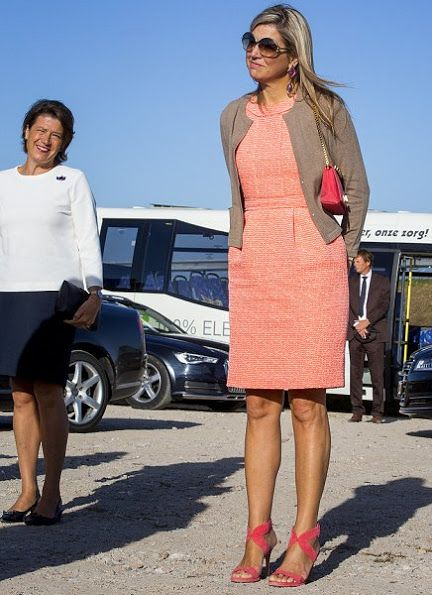 Queen Maxima of The Netherlands visits Colijnsplaat and Zierikzee
