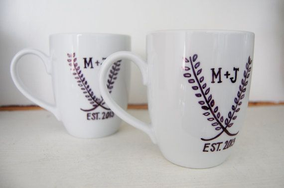 Gift For Newly Wed: Personalized Coffee Mug . Wedding Gifts . Engagement Gifts