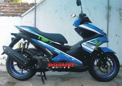 Yamaha Aerox 155 Blue - Custom Wrap & Livery Movistar #yamaha #yamahamotor #yamahaaerox #aerox #aerox155 #yamahaaerox155 #movistar