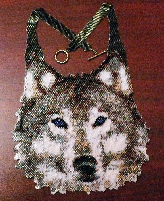 Peyote pattern for my Medium Wolf Necklace by greendragon9 on Etsy, $10.00