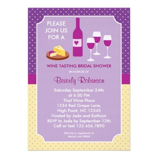 23 best images about Wine Themed Bridal Shower Invitations on – Wine Tasting Party Invitation Wording