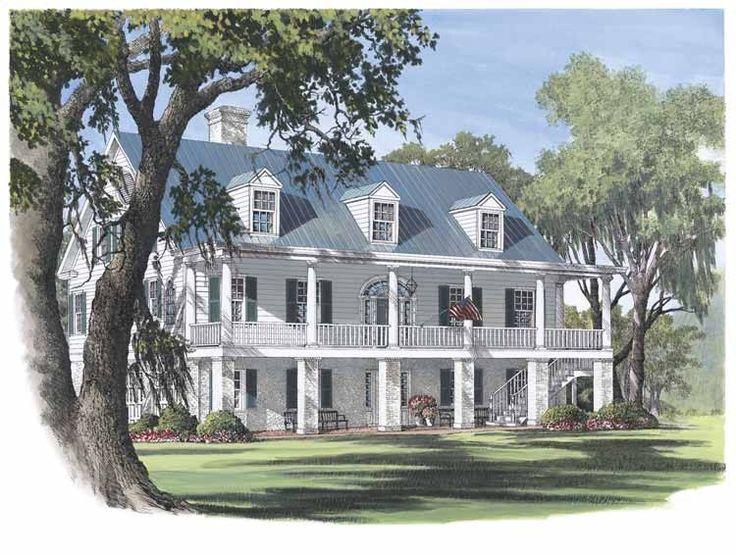 Colonial Plantation Home Plans