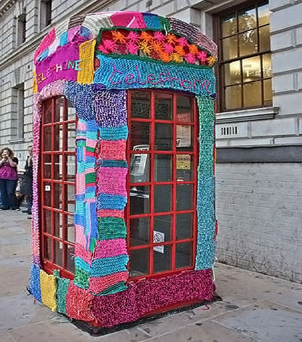 Knitted?-Weirdest public phone booths