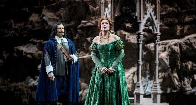 Nadine Koutcher en Lucia dans la mise en scène de Nicolas Joël./ Photo DR, Patrice Nin.