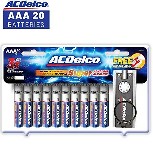 Acdelco Aaa Batteries Alkaline Battery 20 Count Alkaline Battery Batteries Aaa Batteries
