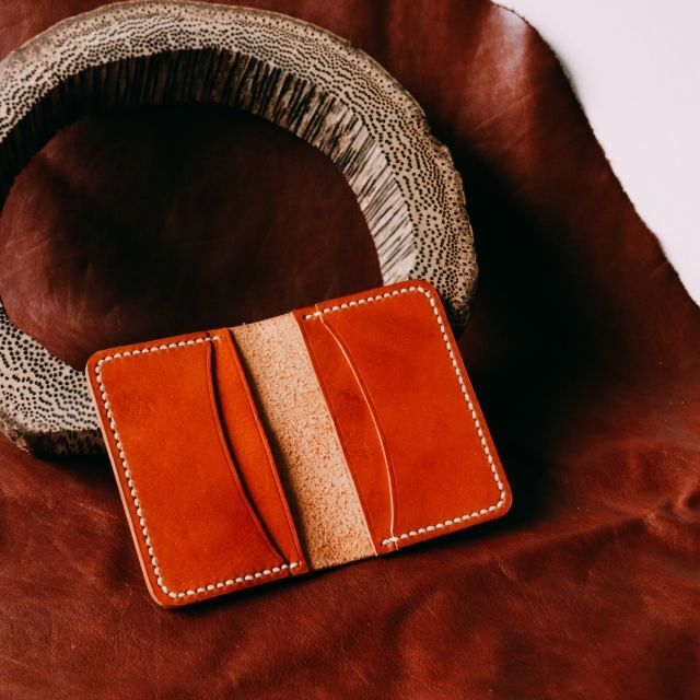 Limited Leather (Italian Leather in Honey Tan) Handmade Handstitched Italian Waxed Thread