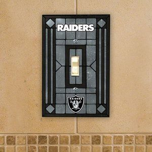 NFL - Oakland Raiders Light Switch Cover: Single Glass