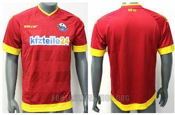 SC Paderborn 07 2014/15 Saller Away and Third Kits